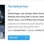 The Darkest Hour Hit The USA Today Bestseller List…